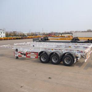 40FT Skeleton Container Semi Trailer Truck Bone Container Semi Trailer pictures & photos