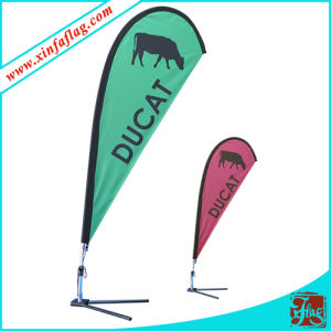 Teardrop Flags with Bases and Flagpoles for Advertising (018) pictures & photos