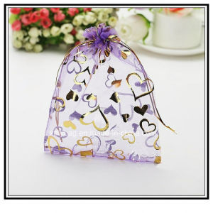 Purple Organza Drawstring Pouches Jewelry Bag Gift Bag pictures & photos
