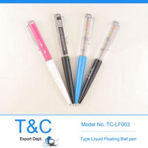 Novely Promotion Liquid Floating Plastic Ball Pen Tc-Lf003