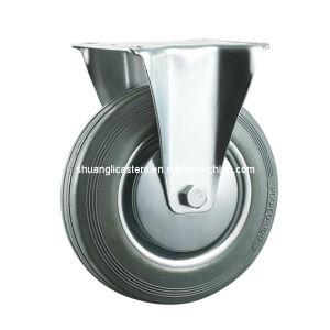 Industrial Tire Press Grey Rubber Castor Fixed Wheels (N190)