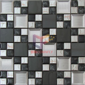 European Modern Style Wall Decoration Glass Mix Metal Mosaic (CFM941) pictures & photos