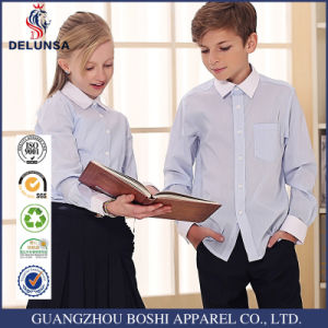 Customize Own Logo Cotton Kids School Uniform Shirts pictures & photos