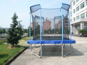 Square Tampoline with Safe Net and Ladder Sx-Ft (E)