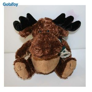High Quality Custom Plush Christmas Toy Moose with Scarf Stuffed Soft Toy pictures & photos