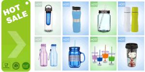 New Design Plastic Bottle and Mug
