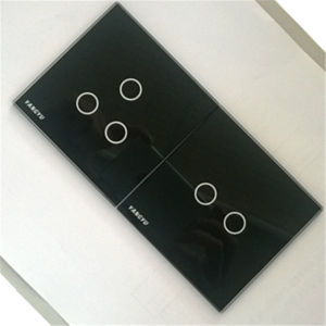 Wall Touch Switch Plates Glass with Color Printed pictures & photos