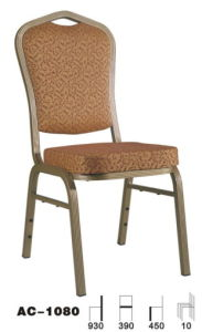 High Back Stackable Aluminium Hotel Banpuet Chair (AC-1080)