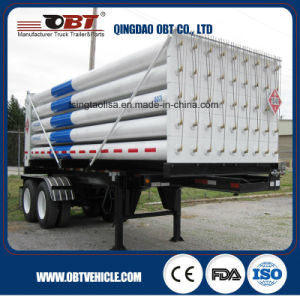 2 Axle 18 Cbm CNG Tube Container Truck Semi Trailer pictures & photos