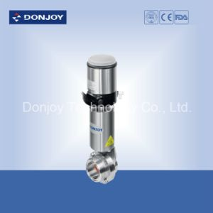 Pneumatic Double Seat Butterfly Valve with Thread End pictures & photos