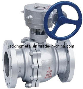 API Cast Steel 300lb Gear Operation Ball Valve pictures & photos