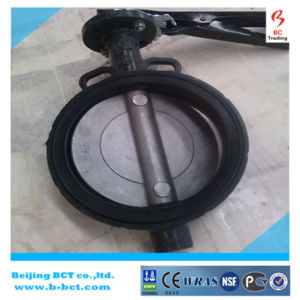 CAST IRON BODY DK BUTTERFLY VALVE WAFER TYPE WITH HANDLE OR GEAR WORM BCT-DKD71X-10 pictures & photos
