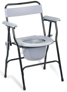 Steel Commode Chair with Backrest (SC-CC02(S)) pictures & photos