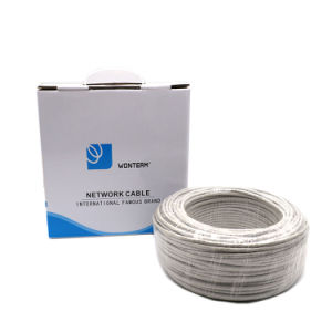 UTP Cat 5e for Indoor Twisted Pair with Drain Wire Copper Conductor Bc CCA Cu DC Wire pictures & photos