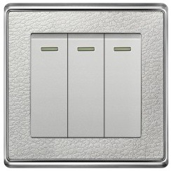 3 Gang 1way Wall Light Switch