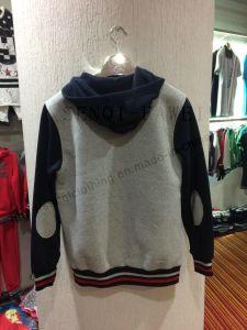 Man Grey Zipper Hood Clothes in Customize Logo Fw-8716 pictures & photos