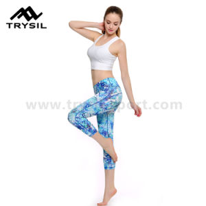 Ladies Capri Legging Women Yoga Pants Gym Wear pictures & photos