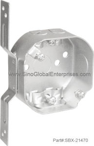 "3-1/2""Octagon Junction Box with Bracket (SBX-21470)"