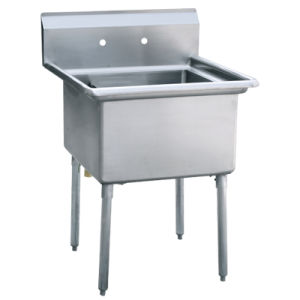 Stainless Steel One Compartment Kitchen Sink Without Drainboard - 2 pictures & photos