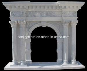 Stone Column Mantel (96687) pictures & photos