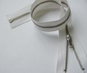 3# Long Metal Zipper (white)