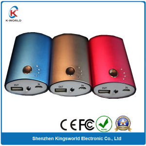 Metal OEM 6000mAh Mobile Charger with LED Indicator