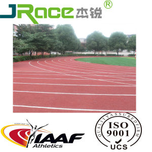 Iaaf Full Poured PU Rubber Athletic Running Track pictures & photos