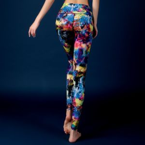 2016 Fitness Breathable Colorful Customized Yoga Compression Tights pictures & photos