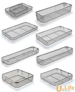 Newest Sterilization Stainless Steel Wire Mesh Tray and Basket pictures & photos