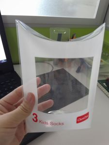 Custom printed clear plastic PP/PVC/PET pillow box (pillow shape package) pictures & photos