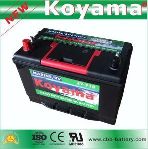 Double Terminal 12V 80ah Sealed Maintenance Free Auto Car Battery Bci 27 pictures & photos