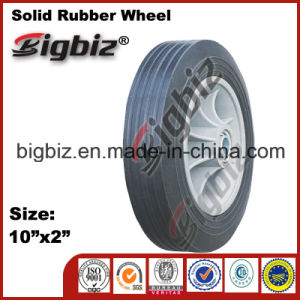 Black Colour 10 Inch for Sale Solid Rubber Wheel pictures & photos