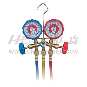 CT-536 F G F/ a Brass Manifold Gauges Set for R410A Double Gauges Manifold Set Air Conditioner Parts Refrigeration Parts Refrigeration Tools pictures & photos
