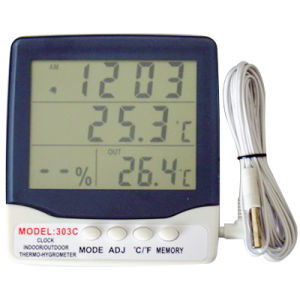Indoor / Outdoor Thermometer Hygro and Clock (AT-303C) pictures & photos