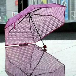 Three-Folding Manual Open Transparents Poe/PVC Umbrella