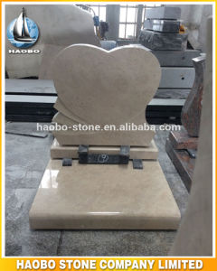 Beige Stone Headstone Heart Types pictures & photos