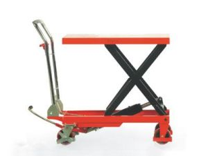 300-750kg Scissor Lifter Pallet Truck with High Quality pictures & photos