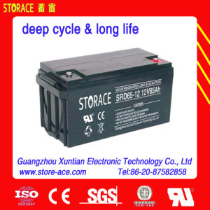 12V 65ah Deep Cycle Battery (SRD65-12) pictures & photos