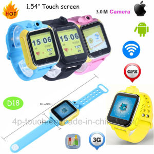 Multi-Languages 3G Kids GPS Tracker Watch with Rotating Camera (D18) pictures & photos