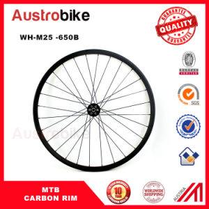 27.5er Offset MTB Carbon Beadless Wheelset 650b Hookless Carbon Rim pictures & photos
