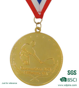 Metal Gold Souvenir Medal with Ribbon pictures & photos