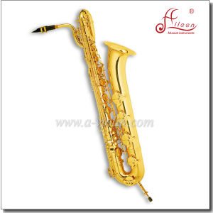 Eb Key Gold Lacquer Baritone Saxophone pictures & photos