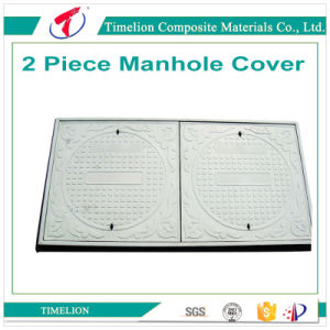 2 Piece Rectangular Casting Manhole Cover for Cable Protection pictures & photos