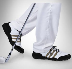 Sports Golf Shoes Leather Lace up Footwear for Men (AKGS20) pictures & photos