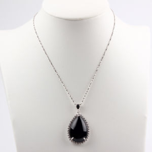 Pear Shape Black Agate Fashion Pendant /Necklace Jewelry pictures & photos
