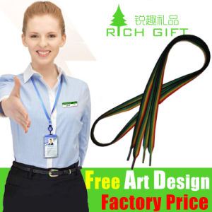 Cheap Custom Woven/Printed Neck Polyester Lanyard No Minimum Order pictures & photos