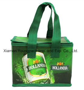 Custom Full Color Printed PP Laminated Non-Woven Reusable Promotional Cooler Bag pictures & photos