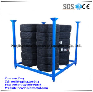 Warehouse Storage Heavy Duty Steel Stacking Tire Racking pictures & photos