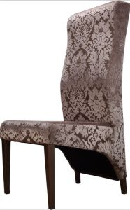 Hotel Fabric Luxury High Back Comfortable Dining Chairs pictures & photos
