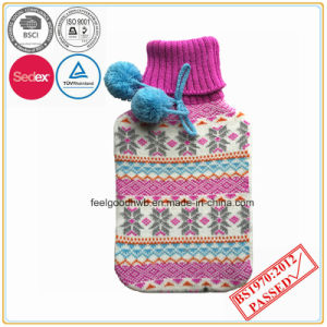 Hot Water Bottle with POM POM Cover pictures & photos